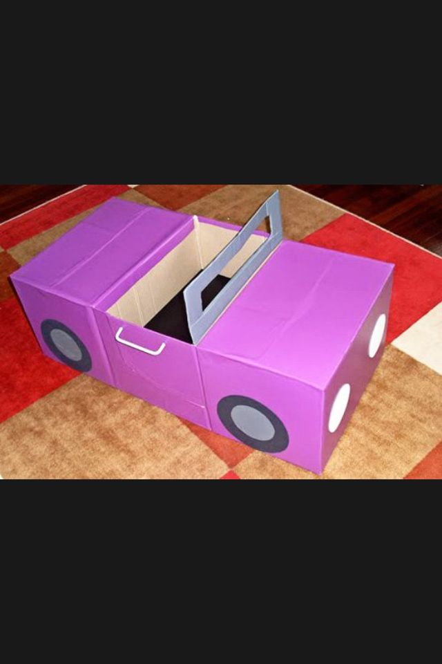 Drive In Movie Box Car Diy Crafts For Kids Cardboard
