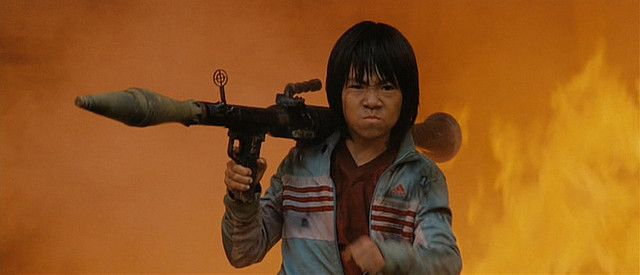 Tran - Brandon Soo Hoo - Tropic Thunder - Freaking awesome kid! I mean, look at that! That's a kid, with an RPG, surround by fire! EPIC!