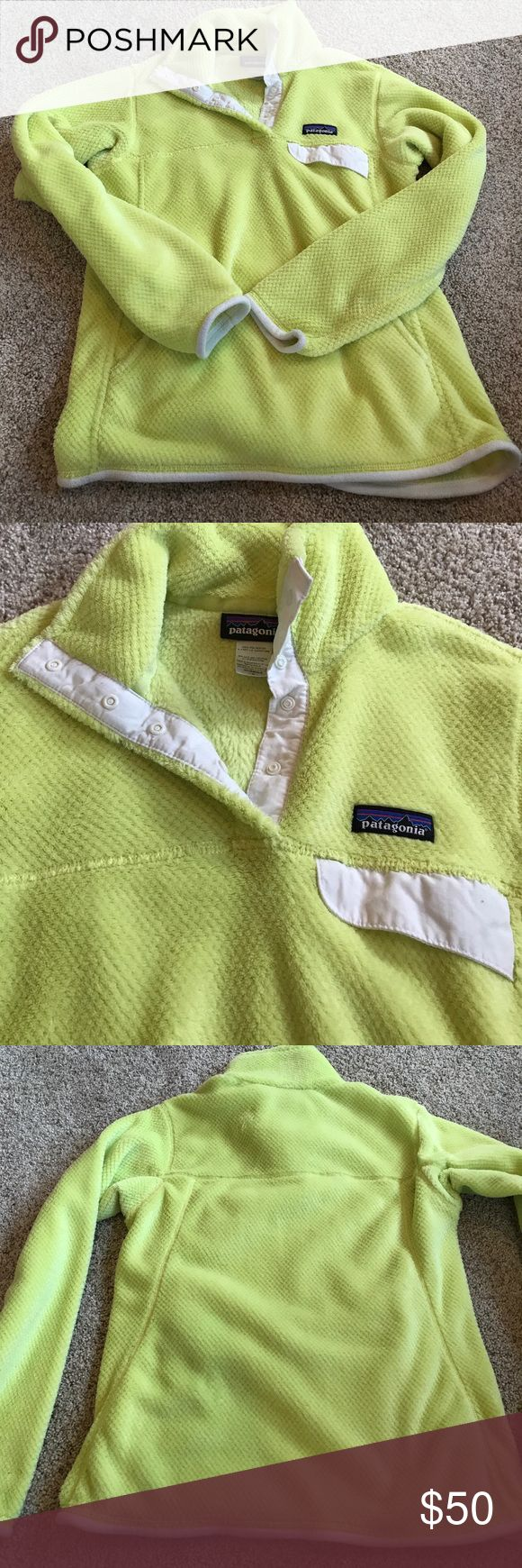 Patagonia Pullover Women's Small, bright yellow, lightly worn! No signs of wear! Patagonia Jackets & Coats