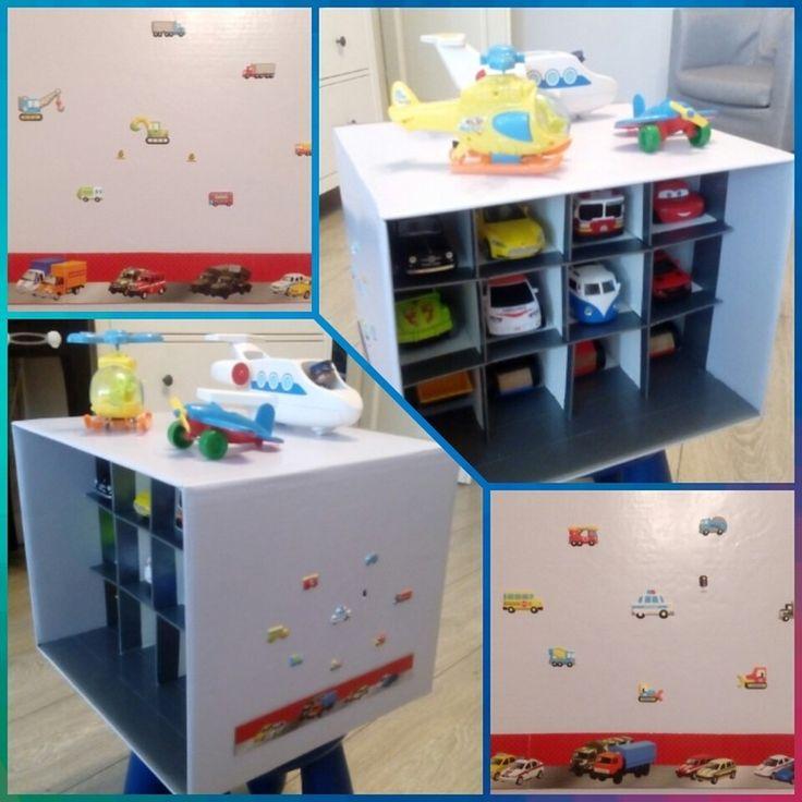 Кухня и парковка из картонных коробок от пользователя «id1791537» на Babyblog.ru