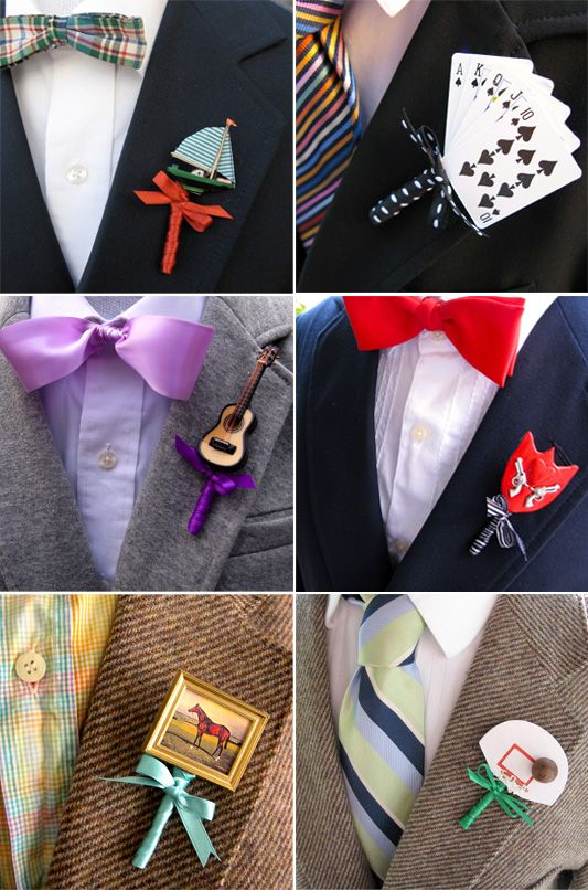 Alternative Buttonhole Ideas for the Groom and Groomsmen hehe