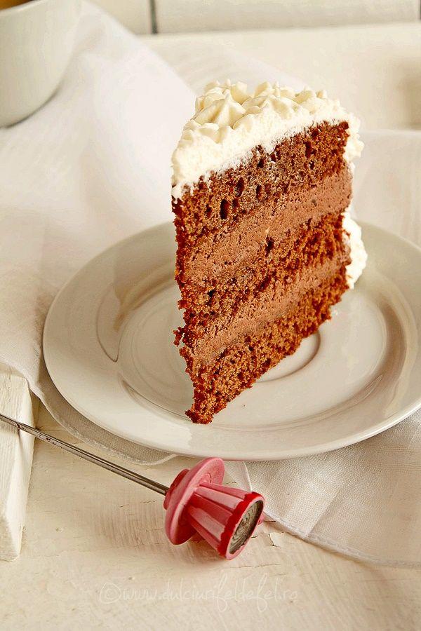 Mod de preparare Tort de ciocolata si frisca: Blat: Punem intr-un vas ciocolata rupta bucatele, uleiul si smantana pentru frisca. Punem vasul pe foc mic (sau la baine marie) si amestecam continuu pana obtinem o compozitie omogena. Dam deoparte si lasam la racit. In crema de ciocolata racita, adaugam pe…