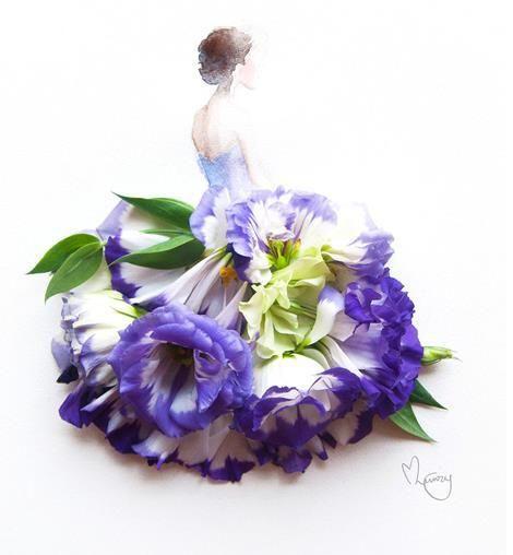 うわあぁぁぁステキ~!! 本物の花びらと水彩画を組み合わせたら……こんなにおしゃれ&エレガントなアートができました | Pouch[ポーチ]