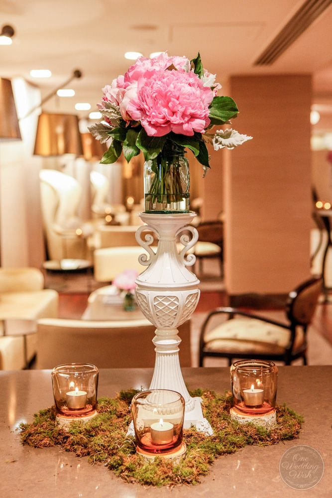 Foyer styling | Elegant vintage themed wedding | Myer Mural Hall, Melbourne | Concepts & Styling by One Wedding Wish