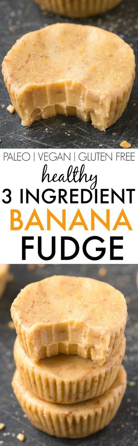 Healthy 3 Ingredient Banana Fudge Cups- Smooth, creamy and melt-in-your mouth…
