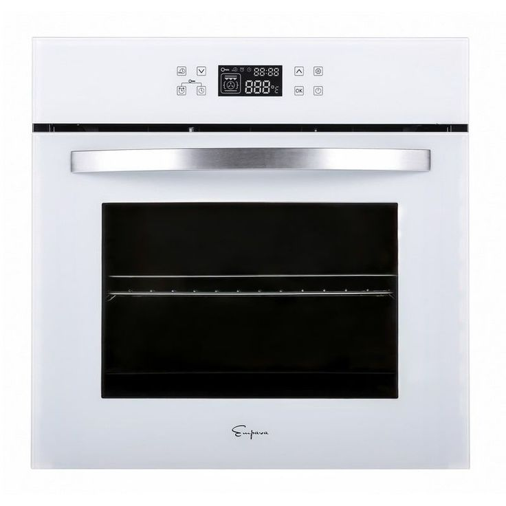 Empava 24 white tempered glass electric single wall oven
