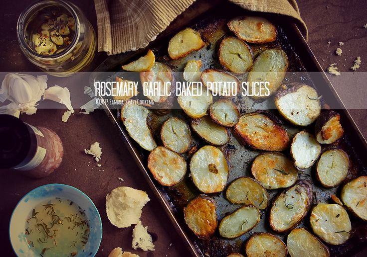Rosemary Garlic Baked Potato Slices