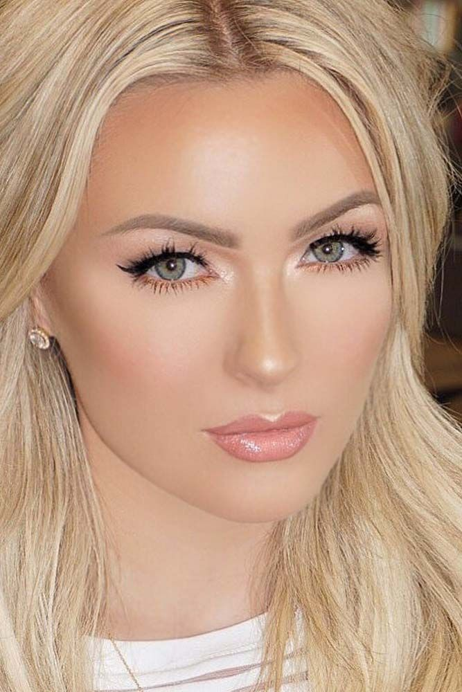 Blonde Eyebrows May Be Not So Easy To Deal With But There Is Nothing Impossible In This Bridal Makeup Natural Blonde Bridal Makeup For Blondes Blonde Eyebrows
