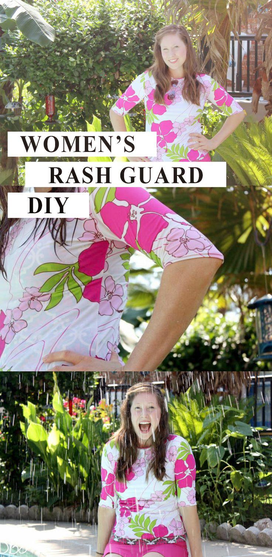Women's Rash Guard Swim Shirt Tutorial