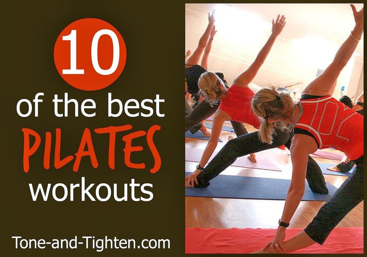 10 of the best FREE Pilates video workouts on Tone-and-Tighten.com! #fitness #workout