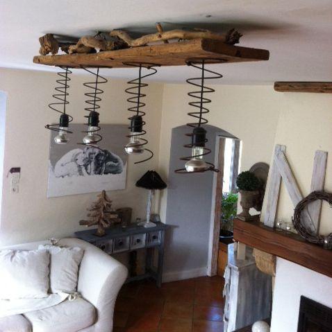 recuperation ressort sommier lampes pinterest. Black Bedroom Furniture Sets. Home Design Ideas