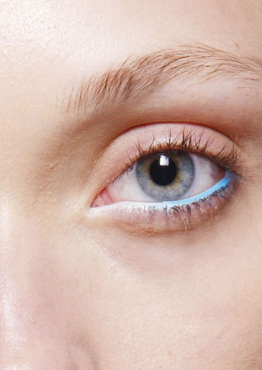 Switch out your black eyeliner for some blue.