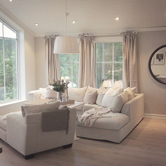 Light bright comfortable living room living room for Neutral front room ideas