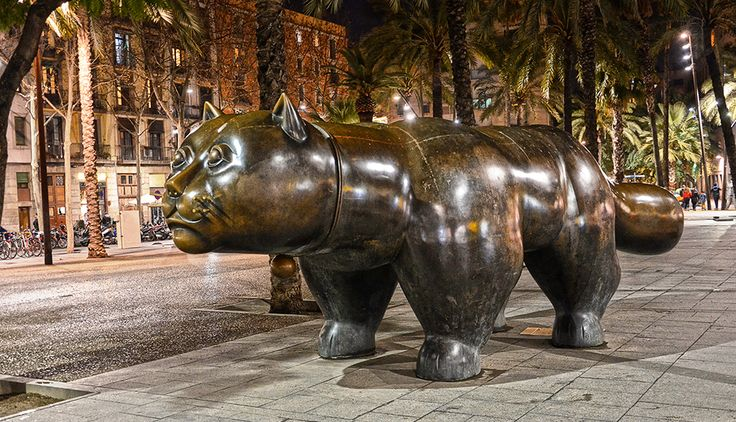 Кот Раваля (памятник на проспекте Raval, Барселона) Фернандо Ботеро