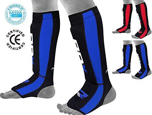 RDX Neoperene MMA Shin Instep Pads Leg Guard Muay Thai Boxing Training Protective Gear Kickboxing (CE Certified by SATRA) - http://boxingequipment.nationalsales.com/rdx-neoperene-mma-shin-instep-pads-leg-guard-muay-thai-boxing-training-protective-gear-kickboxing-ce-certified-by-satra/