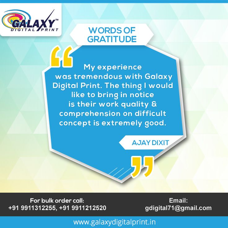 Check out what our valuable #customers say about us. #WordsofGratitude #CustomerSpeak #DigitalPrinting #CustomPrinting
