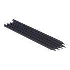 Staples Lápis HB de madeira preta com aplicações de várias cores, Embalagem de 5