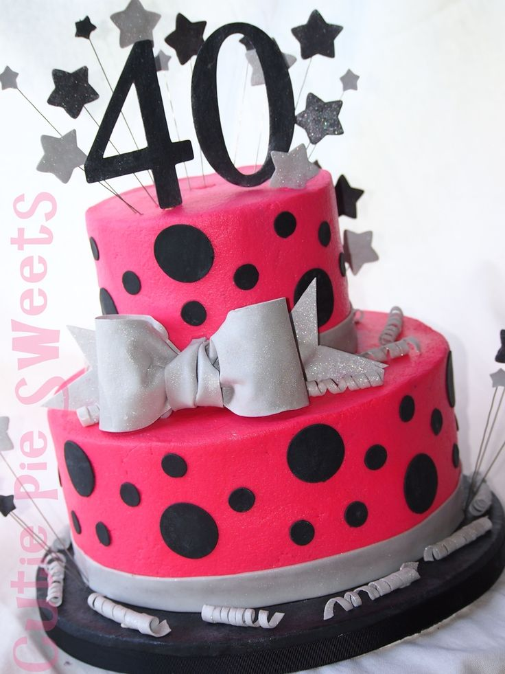 602 best images about ladies birthday 40 39 s 50 39 s on for 40th birthday cake decoration