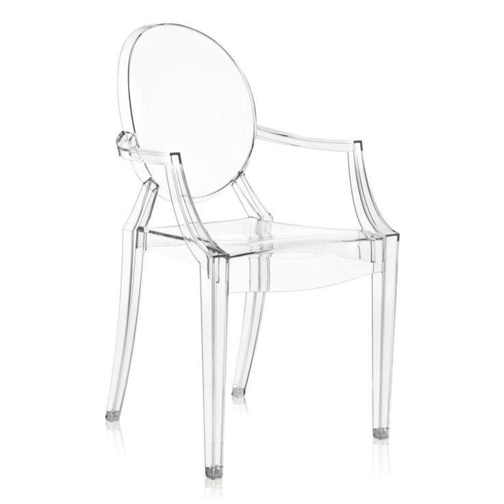 Foto 1 - Cadeira Ghost Em Policarbonato Com Braços - Cor Transparente
