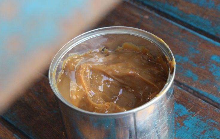 Cremet karamel af kondenseret mælk