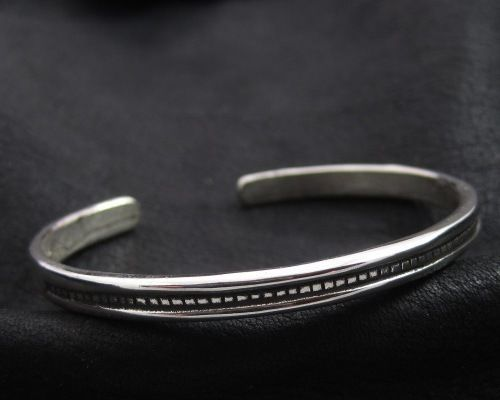 Silver bracelet from Ancient Rome. Reenactment. Antique. SCA.