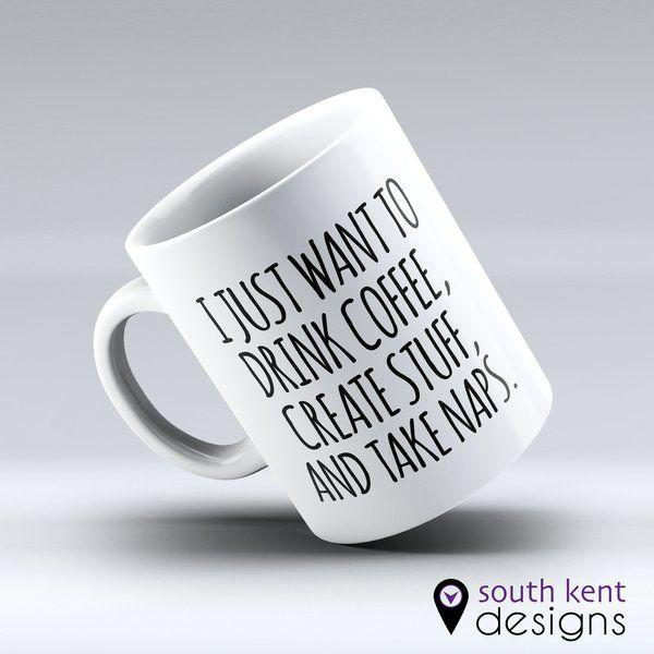 I just want to drink coffee - MAKE IT PERSONAL - 11oz ceramic mug
