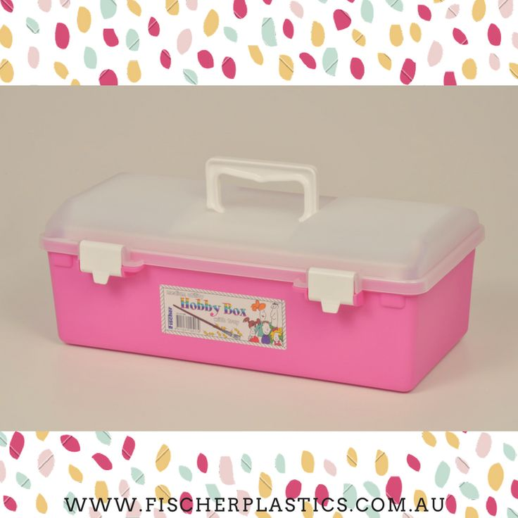 Have you considered using our gorgeous pink Hobby Box? It is perfect for keeping all of your arts and crafts organised and stored in our Hobby Box.