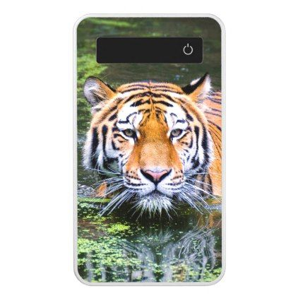 Photo | Wild Tiger Standing In The Water Power Bank - animal gift ideas animals and pets diy customize