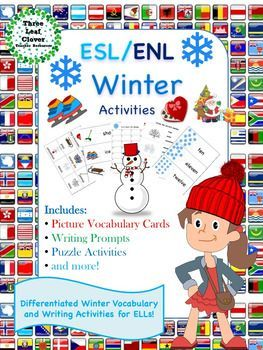 Vocabulary development is essential for English Language Learners. The vocabulary activities in this winter themed packet will help ELLs learn, practice and write using vocabulary words related to the winter season. English Language Learners of all language proficiency levels can benefit from the variety of activities offered.