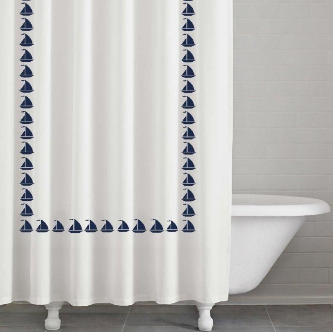 Lighthouse Bath Accessories Beacon Point Nautical Shower Curtain