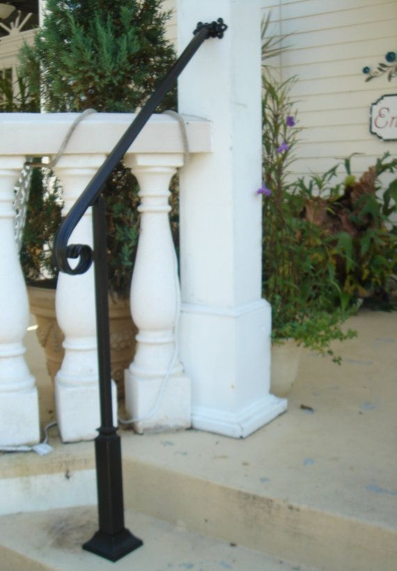 Outdoor Stair Railing Ideas With Images Wrought Iron Handrail Outdoor Stair Railing Iron Handrails