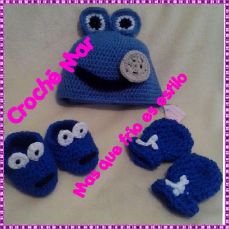 Conjunto tejido de Come Galletas por Croche Mar