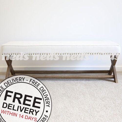 Vienna Dressing Bench - French White