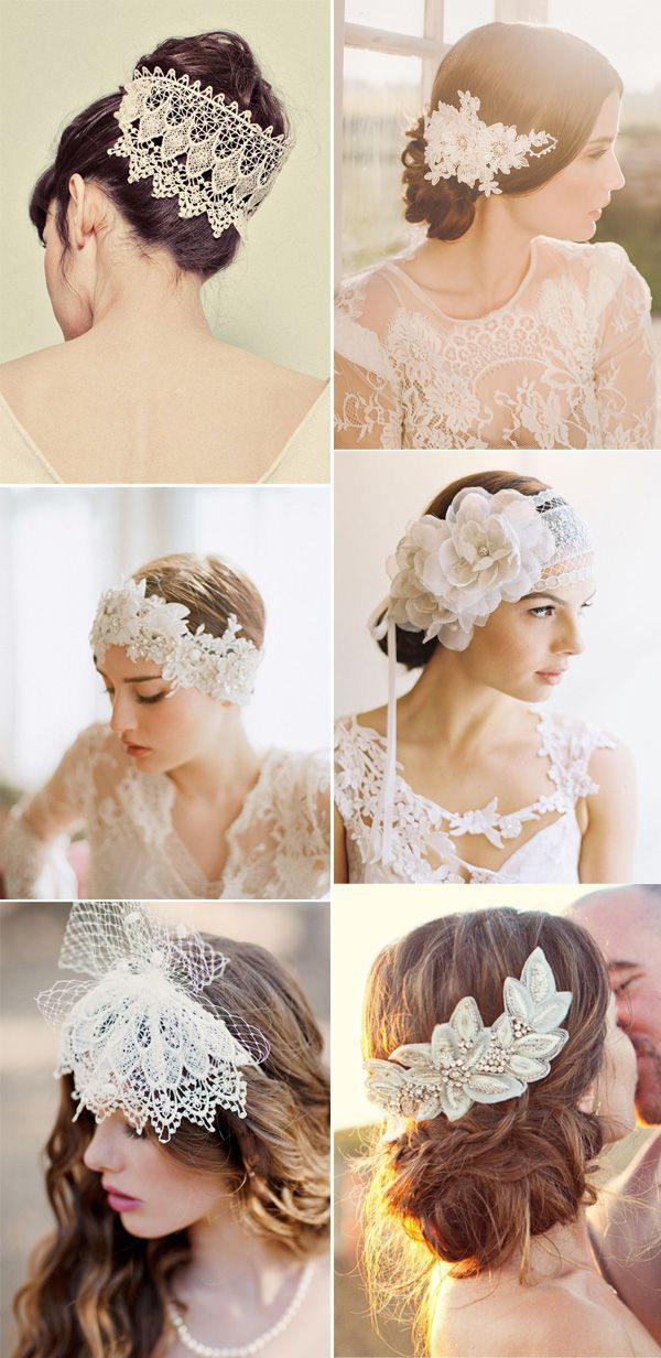 25 prettiest lace bridal hairpiece for your wedding hairstyles