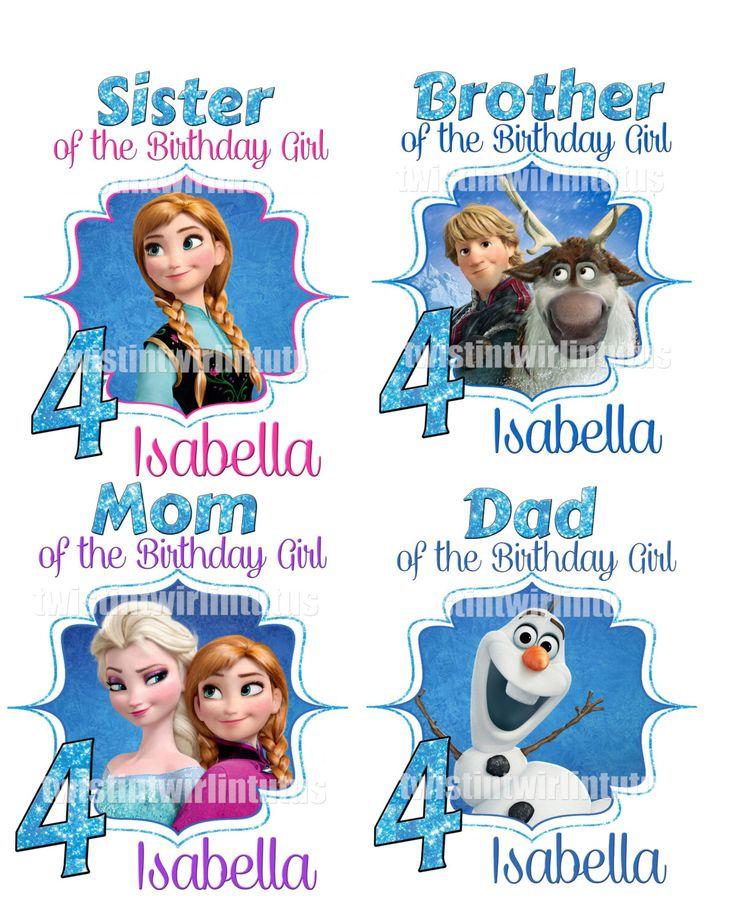 Frozen Shirt Family Package of 4, Frozen Birthday, Frozen