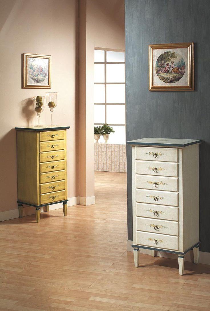 Hand painted chest of drawers -   Casetiera pictata la comanda - Catalog Zanini