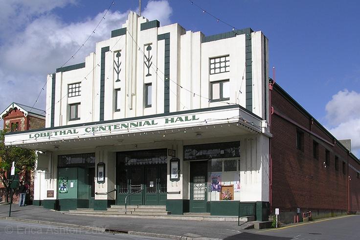 Lobethal Centennial Hall, Lobethal cinema - Adelaide Hills. South Australia. Art Deco.