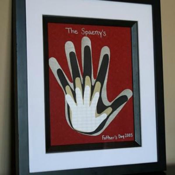 Framed Family Handprints Art - I wish I would have seen this when my children were little.