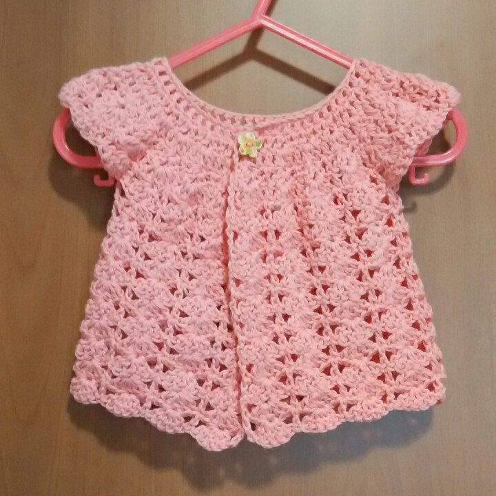 Romantic, lovely cardigan, girl jacket 100% cotton size 1-3 years old made to order