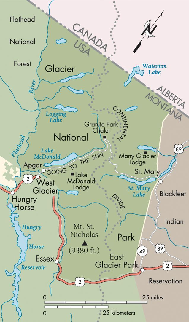 The Great Northern: Glacier National Park map – #G…