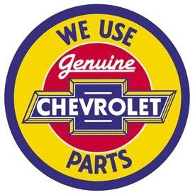 Amazon.com: Chevrolet Chevy Genuine Parts Round Retro Vintage Tin Sign: $9.06