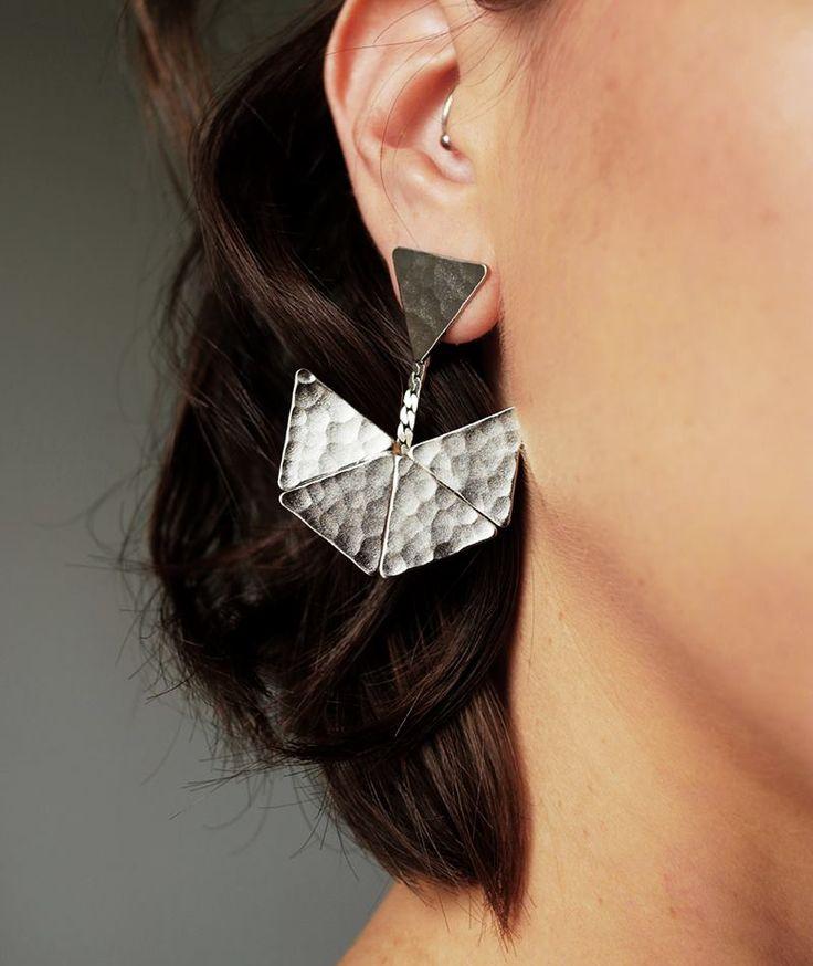 Maeve Silver Earrings - Handmade  by myfashionfruit.com