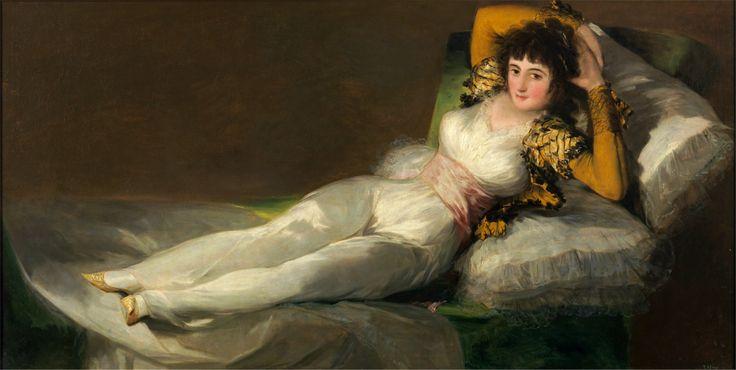 """""""Maja Vestida"""" 1800  Dimension: 95 x 190 cm  Museo del Prado, Madrid"""