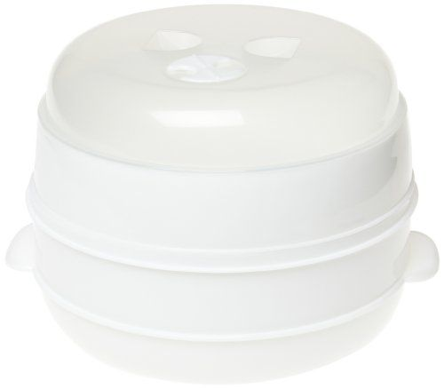 Handy Gourmet 2 Tier Microwave Steamer // http://cookersreview.us/product/handy-gourmet-2-tier-microwave-steamer/  #cooker #pressure #electric