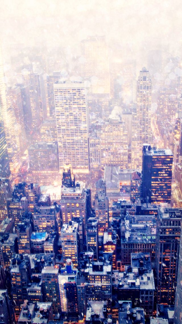 iPhone wallpaper - New York in winter