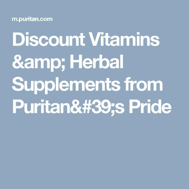 Discount Vitamins & Herbal Supplements from Puritan's Pride