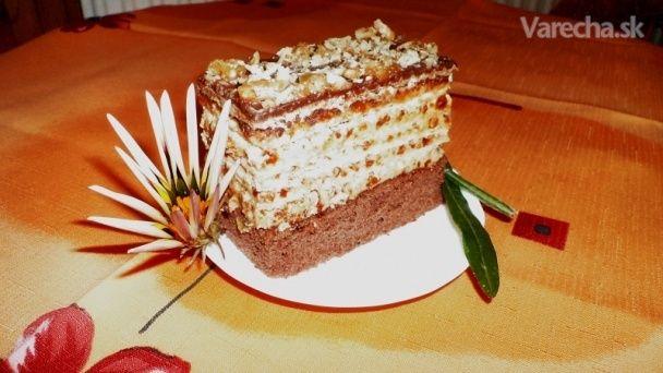 Kakaovo-oblátkové karamelové rezy (fotorecept)