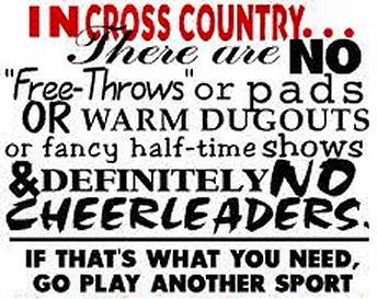 inspirational cross country running quotes | Grady High School Cross Country: Fun Cross Country Sayings: