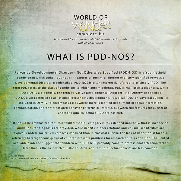 the symptoms and signs of pddnos essay