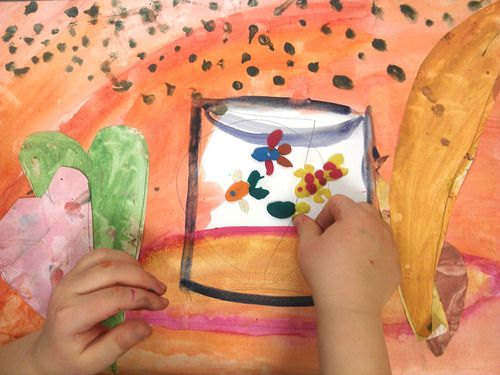 по мотивам Анри Матисса artstudio art with kids paint with kids children's art children's creativity matisse art henri matisse